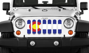 Colorado State Flag Jeep Grille Insert
