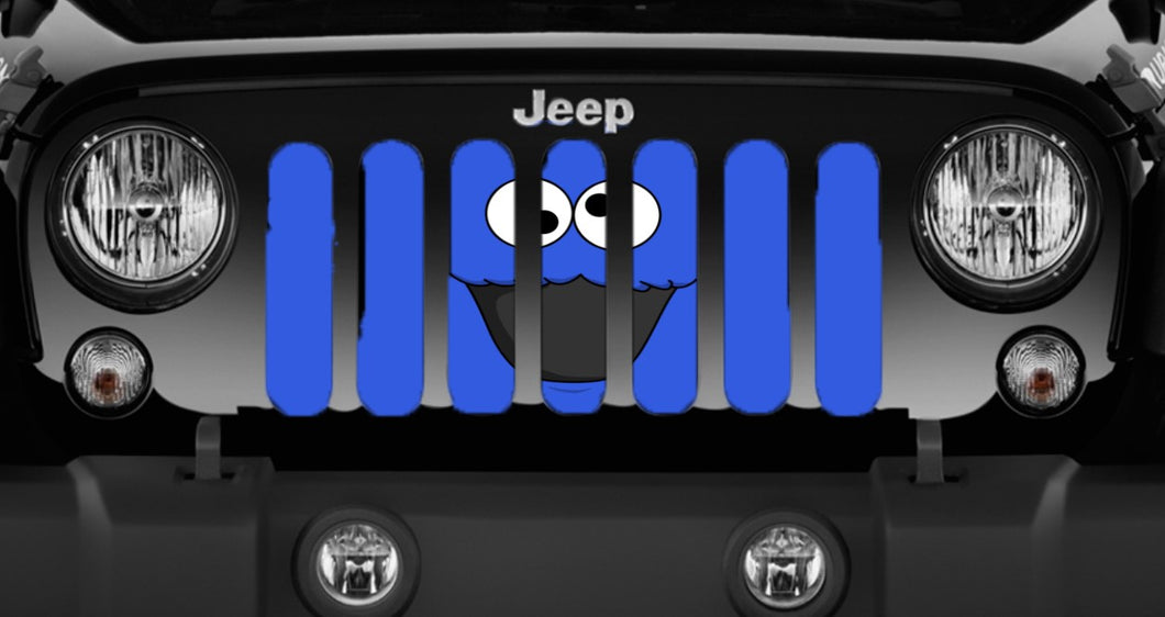 Cookie Monster Jeep Grille Insert
