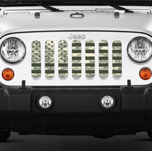 American Flag Digital Green Camo Grille Insert
