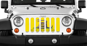 Gadsden Flag - Don't Tread On Me Grille Insert