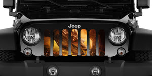 Gold Dragon Jeep Grille Insert