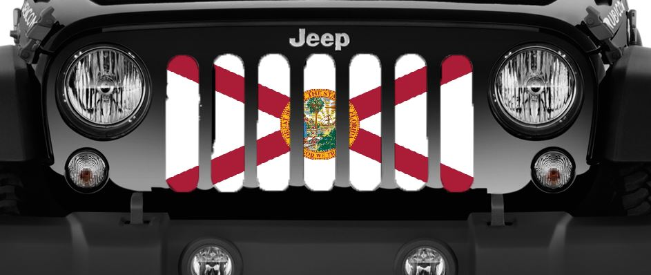 Florida State Flag Grille Insert