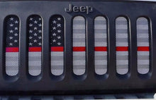 Ghost Tactical Back the Red American Flag Jeep Grille Insert