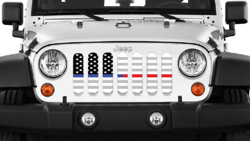 American Ghost Tactical Blue and Red Line Grille Insert
