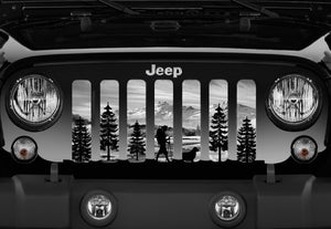 Hiker Gray Mountain Jeep Grille Insert