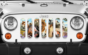 Horse Selfie Jeep Grille Insert