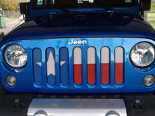 Texas State Flag Jeep Grille Insert