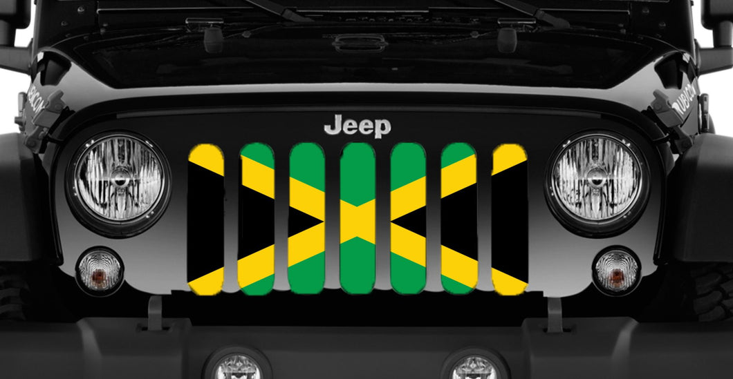Jamaican Flag Grille Insert