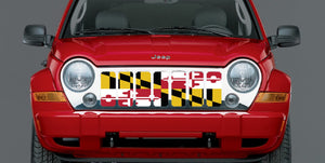 Maryland Flag Jeep Grille Insert