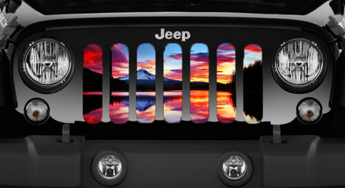 Lake Sunset Jeep Grille Insert