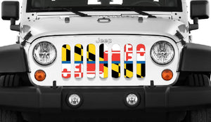 Maryland Back The Blue Flag Grille Insert