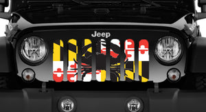 Maryland Crab Flag - Jeep Grille Insert