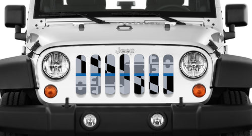 Maryland Tactical Back The Blue Jeep Grille Insert