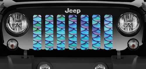 Mermaid Scales - Blue & Purple- Jeep Grille Insert
