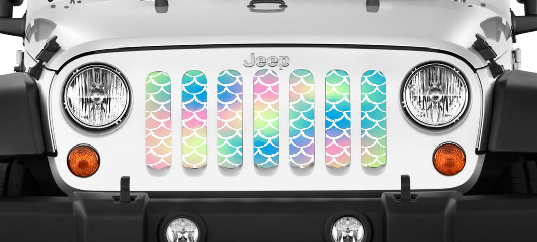 Mermaid Scales - Pastel Jeep Grille Insert
