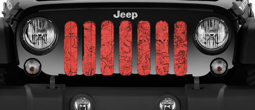 Moab Topography Map Canyon Lands Red Grille Insert