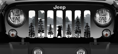 Mountain Bear Jeep Grille Insert