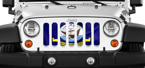 U.S. Navy Flag Waving Jeep Grille Insert