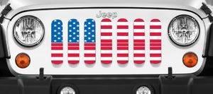 Old Glory Red Line Jeep Grille Insert