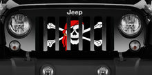 One Eye Jack Pirate Flag Jeep Grille Insert