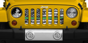 On the Front Line Jeep Grille Insert