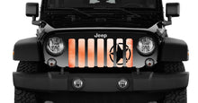 Oscar Mike Orange Ombre Jeep Grille Insert