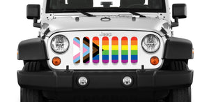 Progress Gay Pride Flag Grille Insert