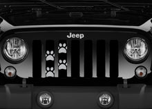 Puppy Paw Print - Gray Grille Insert