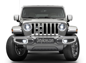 Puppy Paw Prints - Gray - Jeep Grille Insert