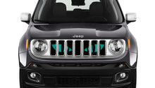 Chaos Teal Eyes Jeep Grille Insert
