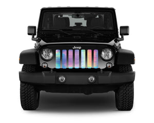 Rainbow Chrome Jeep Grille Insert