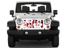 Red Hawaiin Hibiscus Jeep Grille Insert