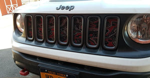 Moab Topography Map Canyon Lands Red Jeep Grille Insert