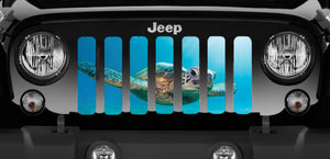 Rip Tide Sea Turtle Jeep Grille Insert