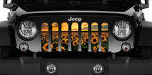 DOUBLE SIDE - Sunflower Jeep Grille Insert