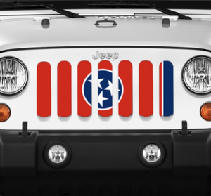 Tennessee State Flag Grille Insert