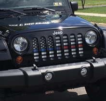 American Black and White Back the Blue and Red Grille Insert
