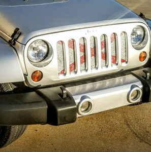 Sweet Home Alabama - State Flag Jeep Grille Insert