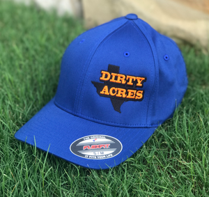 Dirty Acres Blue Flex Fit Hat