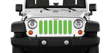 Solid Bright Green Jeep Grille Insert
