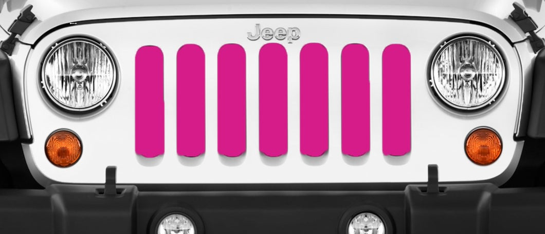 Solid Pink Jeep Grille Insert