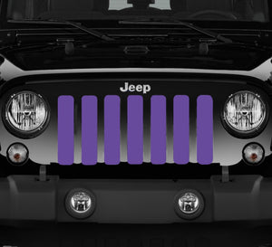Solid Purple Jeep Grille Insert