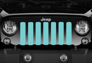 Solid Teal Jeep Grille Insert