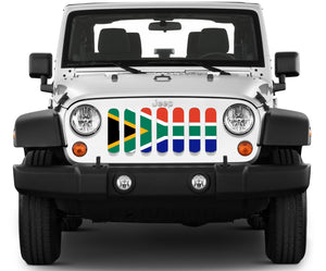 South Africa Flag Jeep Grille Insert