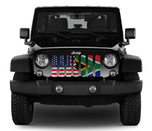South Africa and American Flag Grille Insert
