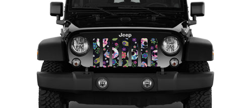 Sugar Skull Celebration Jeep Grille Insert