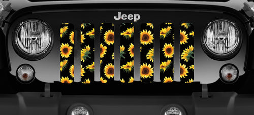 Sunflowers Jeep Grille Insert