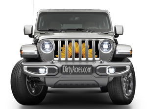 Sunny Side Up Sunflower Jeep Grille Insert
