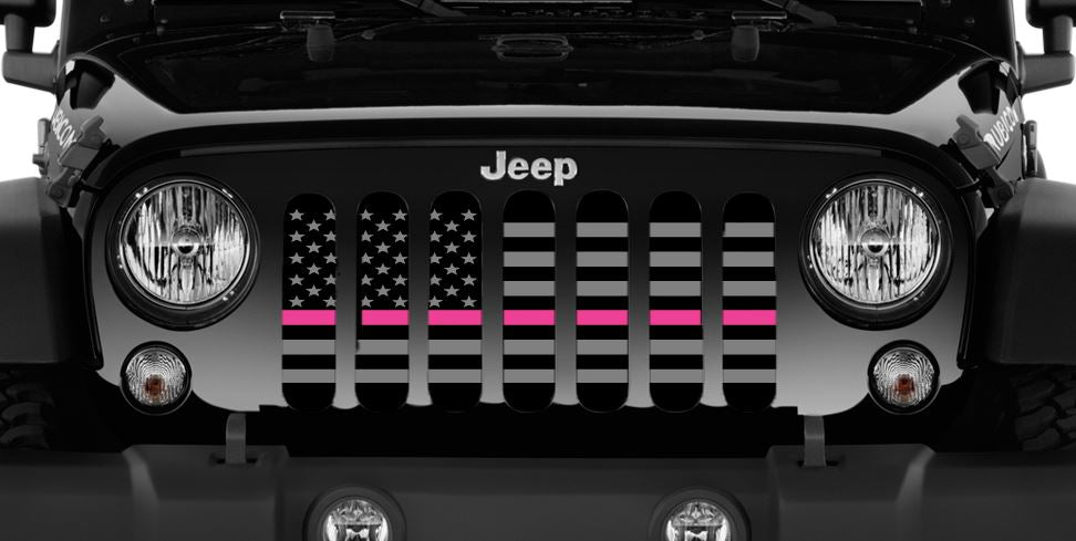 01a79e53 Tactical Fight Like a Girl Pink Line Grille Insert