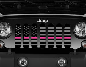 Tactical Fight Like a Girl Pink Line Grille Insert
